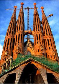 Vuelos Baratos a Barcelona: Basílica de la Sagrada Familia.